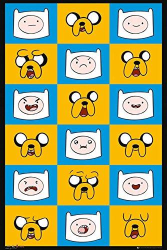Adventure Time - Expressions - Abenteuerzeit mit Finn und Jake Poster Plakat Druck - Grösse 61x91,5 cm