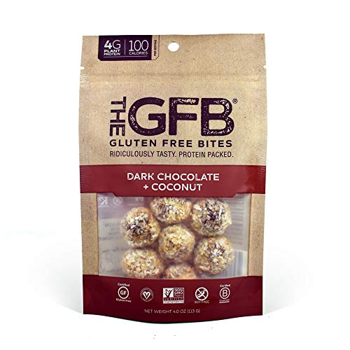 The GFB Gluten Free Protein Bites, Dark Chocolate Coconut, 4 Ounce (6 Count), Vegan, Dairy Free, Non GMO, Soy Free