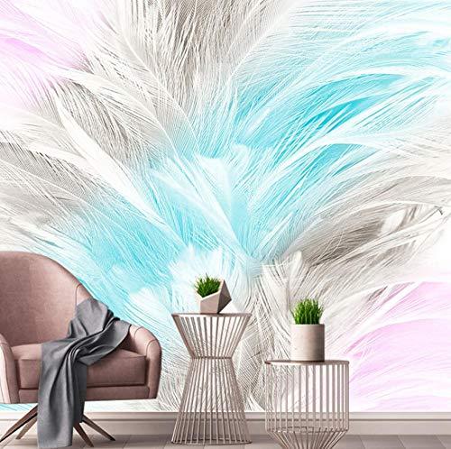 Fotobehang op maat 3D niet-geweven stof milieuvriendelijk en duurzaam behang muursticker-Fresh en elegante kleur creatieve decoratie 400(w)x280(H)cm