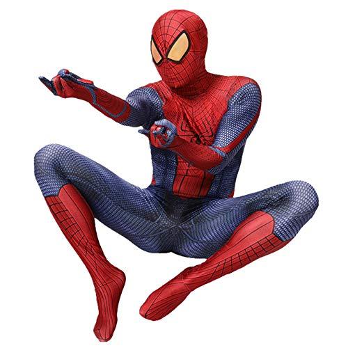 ZYZQ El increble Traje de Cosplay de Spider-Man PS4 Superhroe Mono Sumpsuit Halloween Carnival Dress Dress Traje Spandex/Lycra Unisex Adultos Nios,Yellow Lens-Men~XXL(175~185cm)