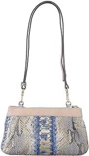 Silvano Biagini Blue Python Leather Evening Bag