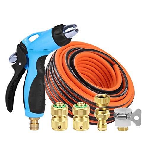 LXM - Juego de pistola de riego de aleación para manguera de jardín, rociador de agua para lavado de coche de alta presión (tamaño: 50 metros)
