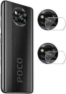 غشاء واقي لعدسة الكاميرا من FanTing لهاتف Xiaomi Poco X3 NFC، شفاف، رفيع للغاية، مقاوم للخدش، طبقة واقية من الزجاج المقوى ...