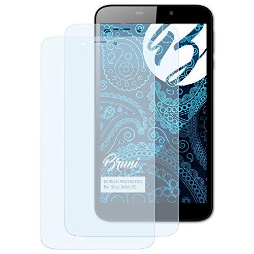 Bruni Schutzfolie kompatibel mit Odys Orbit LTE Folie, glasklare Bildschirmschutzfolie (2X)