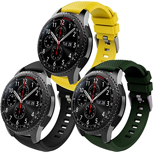 Th-some Correa para Samsung Gear S3 Frontier - Pulsera de Silicona para Galaxy Watch 46mm, Banda de Reloj de Silicona Suave Deportiva Pulsera de Repuesto para Galaxy Watch 46mm/ Gear S3/ Gear S4