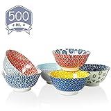Amazingware Müslischalen 6er Set aus Porzellan, Füllmenge 500 ml, Müslischüssel, Müsli Schale,...