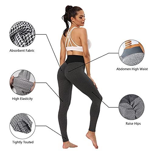 LEAFIA Leggings Push Up Mujer, TIK Tok Leggins, Mallas Deportivas de Compresión, Pantalones de Yoga, Cintura Alta Anticelulitis, Suaves Elásticos y Transpirables, para Fitness, Running, Deporte