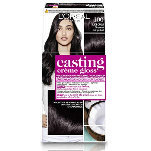 CASTING Coloration Crème Gloss N° 100 BLACK CAVIAR - Lot de 2