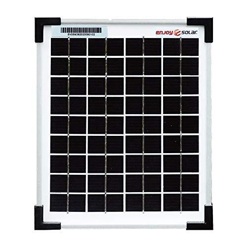 enjoy solar Mono 5W 12V pannello solare monocristallino ideale per case mobili, casette da giardino, barche