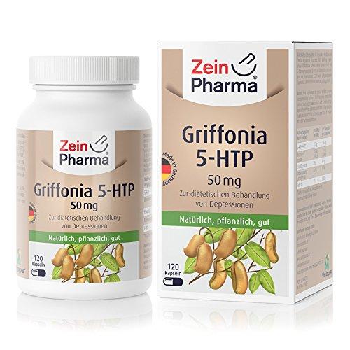 Griffonia 5-HTP 50mg Cápsulas del alemán Fabricante ZeinPharma natural Hilfe en Depression, Insomnio y mucho más