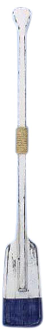 Hampton Nautical  Wooden Rustic St. Lawrence Squared Oar with Hooks, 36