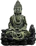 HJUYV-ERT Figuras coleccionables Artesanía Figuras de Regalo Feng Shui Antiguo Buda Sentado Resina Simulación Pecera Reptil Artesanía Acuario en casa Estatua de Feng Shui
