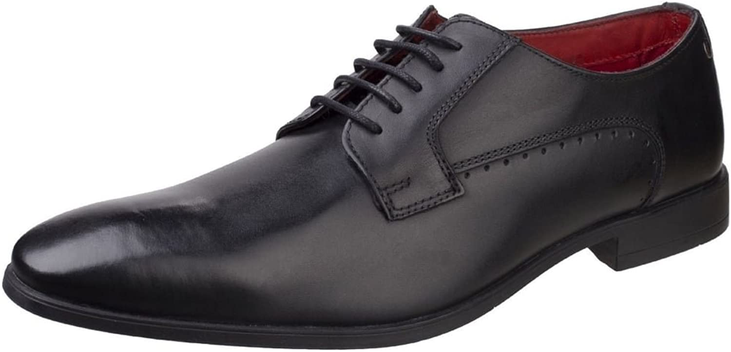 Base London Penny Washed Mens Plain Toe Derby shoes