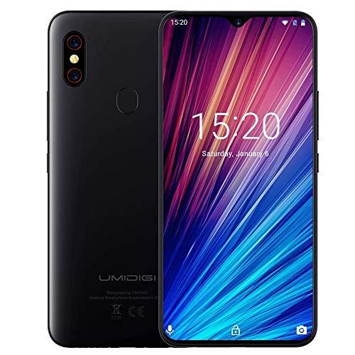 Unlocked Smartphones, UMIDIGI F1 Play Dual 4G Smart Phone Sim Free Android 9 Pie 48MP+8MP+16MP Cameras 5150mAh Battery 64GB ROM+6GB RAM 6.3