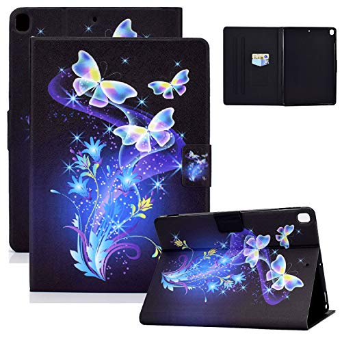 iPad 10.2 Case (2020/2019) 8th/7th Generation iPad 10.2' Cover, Coopts PU Leather Non-Slip Adjustable Stand Auto Sleep Wake Case with Card Slots for iPad 8 2020/iPad 7 2019(10.2 inch), Color Butterfly