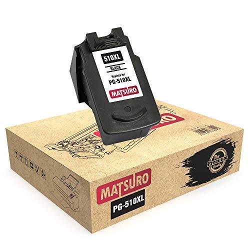 Matsuro Original   Kompatibel Remanufactured Tintenpatrone Ersatz für Canon PG-510XL PG-510 (1 SCHWARZ)