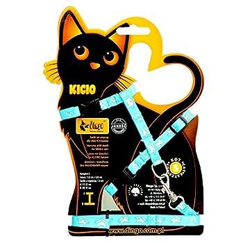 Dingo kicio Harnais avec Laisse pour Petits Chats, 120cm, Rouge P