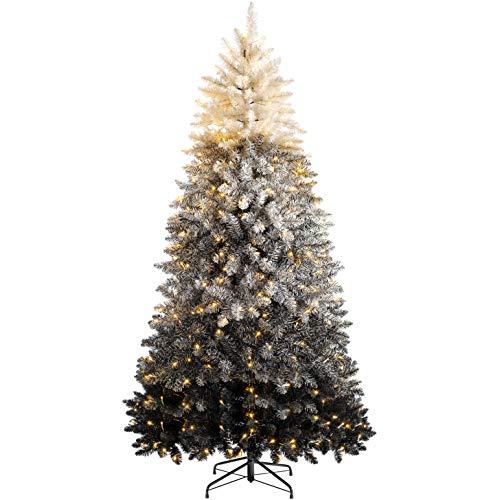 WeRChristmas Pre-Lit Ombre White to Black Christmas Tree