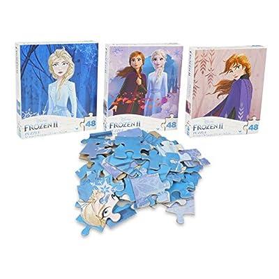 Disney Frozen 2 - Princesses Anna and Elsa 48 Piece Puzzles (Set of 3 Puzzles)