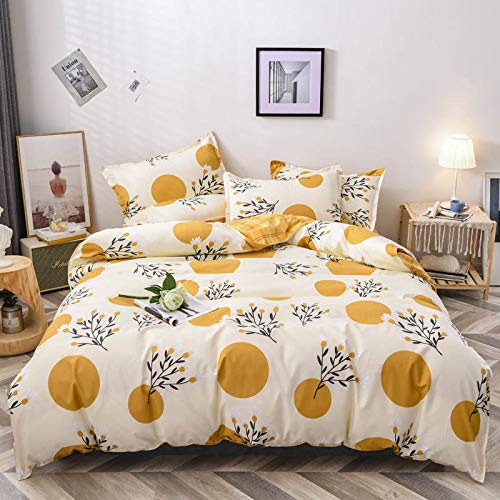 TDMMSDD Four-Piece Bed Set Ins Net Red Four Seasons Bedding Small Fresh Four-Piece Set Bed Sheet Duvet Cover Three-Piece Dormitory