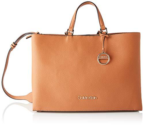 Calvin Klein Sided Tote Lg - Borse Donna, Marrone (Cuoio), 1x1x1 cm (W x H L)