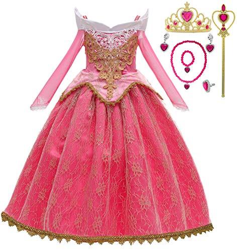 Romy's Collection Princess Toddler Girls Costume Dress Up Set (5-6, Pink)