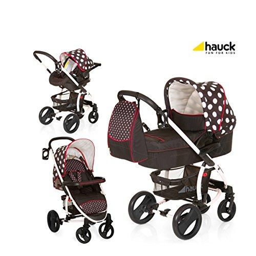 Hauck Malibu All in One - Cochecito de paseo, color dots black