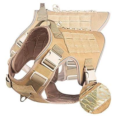 Amazon - 70% Off on Tactical Dog Harness, Dog Vest, Adjustable, with 2X Metal Buckles, Handle