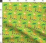 Safari, Tiere, Giraffe, Grün, Punkte Stoffe - Individuell