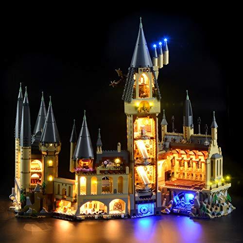 LODIY Beleuchtung Licht LED Beleuchtungsset für Lego 71043 Harry Potter Schloss Hogwarts (Nicht Enthalten Lego Modell)