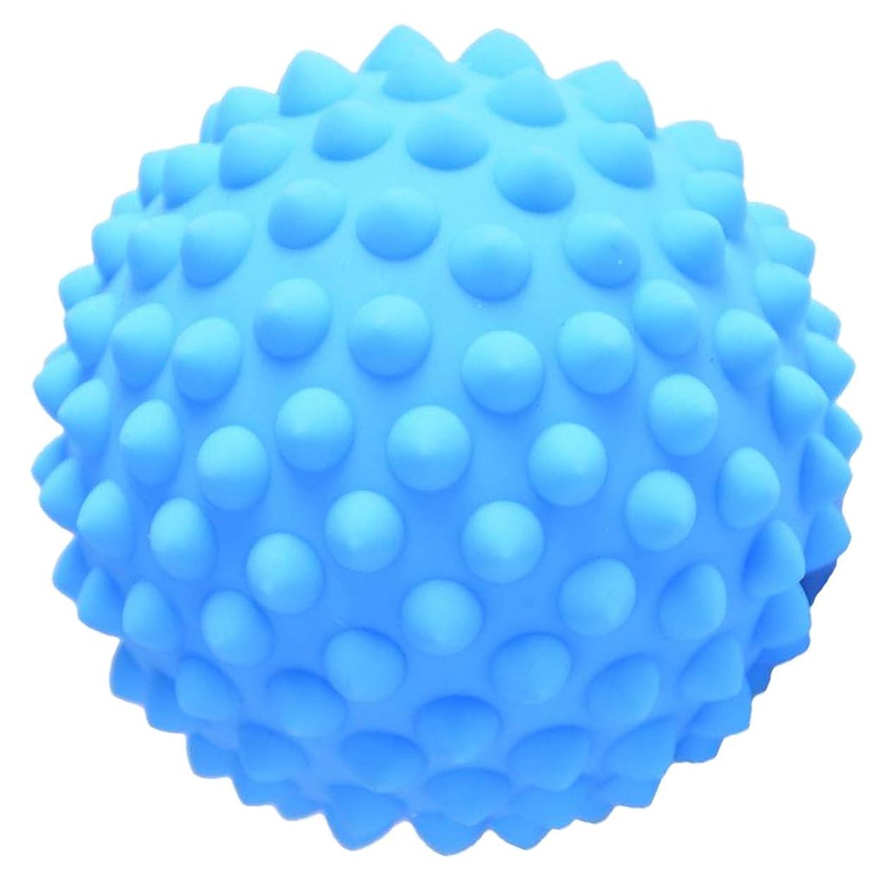 刈り取るサイトラインレーニン主義Hellery ハードPVC 9センチのとがったマッサージローラーボール指圧ボディリラクゼーションマッサージ - 青, 説明のとおり