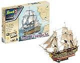 Revell Maqueta Set de Regalo HMS Victory Battle of Trafalgar, Kit Modello, Escala 1:225 (5767) (05767), 40,0 cm de Largo