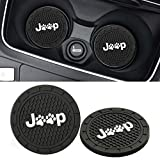 Lipctine 2 Pack 2.75 inch Soft Paw Rubber Pad Round Auto Cup Holder Insert Drink Coaster fit for BMW Ford Chevrolet Silverado fit for BMW Ford Chevrolet Silverado Jeep Wrangler Liberty GMC Car Truck