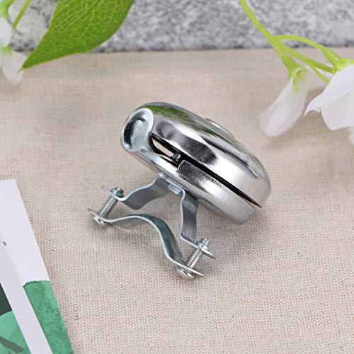 LIOOBO Bicycle Bell Metal Bike Bell Ring Handlebar Ring Horn Alarm Warning Bell for Kids Bike Accessories (White)