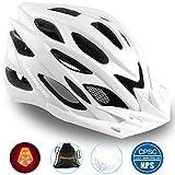 Shinmax Casco Bici con Luce di Sicurezza Uomo Donne Mountain, Certificato CE, Sicurezza Ca...