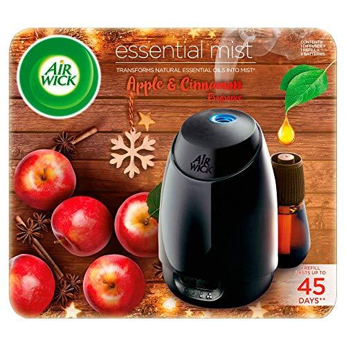 Airwick Kit de ambientador esencial de aroma de manzana y canela (1 difusor y 1 recarga)