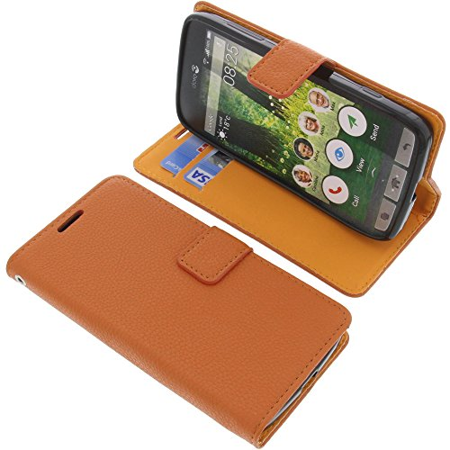 foto-kontor Tasche für Doro Liberto 825 Book Style orange Schutz Hülle Buch