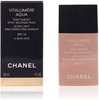 Chanel Vitalumiere Aqua Ultra-Light Skin Perfecting Makeup SPF 15 20 Beige for Women - 1 oz, Pack Of 1