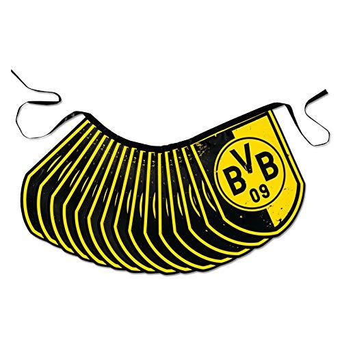 Borussia Dortmund BVB 17100100 Wimpel-Girlande, Schwarz/Gelb, 500 x 20 x 5 cm