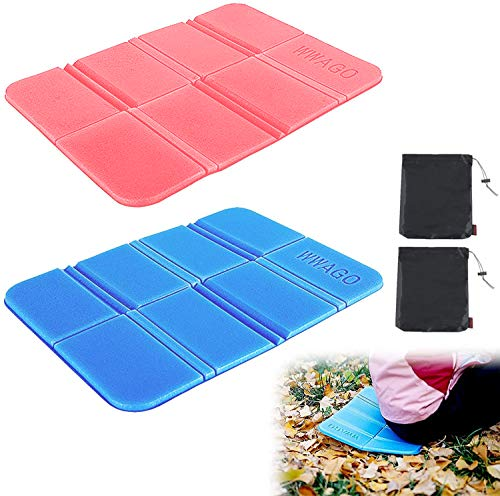2Pcs Insulated Folding Sit Mat Moisture Proof Foldable Foam Mat Thermal Seat Pad Cushion with 2pcs Storage Bag for Outdoor Camping Hiking Park Picnic