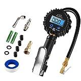 AUTDER - Misuratore digitale per pneumatici, 235 psi, con schermo LCD, per auto, moto, fuoristrada e biciclette