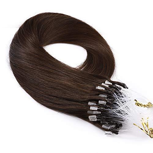 TESS Microring Extensions Echthaar 1g Loop günstig Haarverlängerung Remy Human Hair Extensions Glatt 50 Strähnen 50g 20
