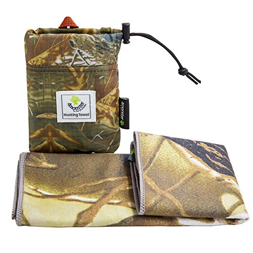 4Monster Outdoor Handtuch mit Camouflage Muster, Mikrofaser, Größe 30 x 80 cm (Real Tree C)