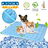 Pet Dog Cooling Mat Pad for Dogs Cats Ice Silk Mat Cooling Blanket Cushion for Kennel/Sofa/Bed/Floor/Car Seats Cooling Blue, 28' x 22'""