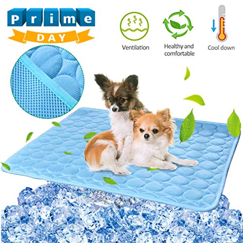 Pet Dog Cooling Mat Pad for Dogs Cats Ice Silk Mat Cooling Blanket Cushion for...