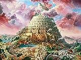 zupjl Diy Puzzle 3D Madera Rompecabezas 1000 Piezas Adultos Juego Juguete Puzzles Impossible Departamento-Torre De Babel