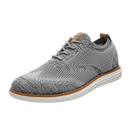 Bruno Marc Men's Mesh Sneakers Oxfords Lace-Up Wingtip Lightweight Casual Walking Shoes Grey Size 11 M US Grand-02