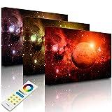 Lightbox Multicolor | Imágenes luminosas para la pared | Planet Mars en el universo | 80 x 60 cm | Fully Lighted