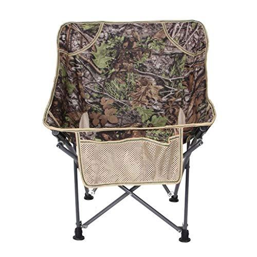 Chaise De Camping en Plein Air Chaise De Pêche en Arrière Barbecue Tabouret De Plage Pliable Pliable Léger Sac À Dos Chaise dans Un Sac pour Le Camp, Pique-Nique Et Randonnée (Color : Camouflage)