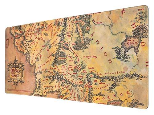 Erik® - Tapis de Souris XXL Le Seigneur des Anneaux - Tapis de Souris Gamer - Mouse pad 80 x 35 cm